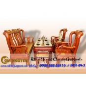 Bộ bàn ghế minh quốc triện gỗ gụ
