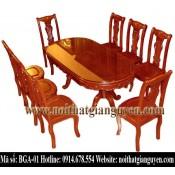 Bộ bàn ghế ăn bầu dục BGA-01