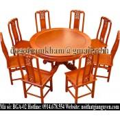 Bộ bàn ghế ăn tròn BGA-02