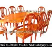 Bộ bàn ghế ăn bầu dục BGA-03