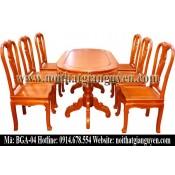 Bộ bàn ghế ăn bầu dục BGA-04