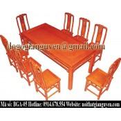 Bộ bàn ghế ăn chữ nhật BGA-05