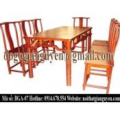 Bộ bàn ghế ăn chữ nhật BGA-07
