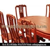Bộ bàn ghế ăn bầu dục BGA-08