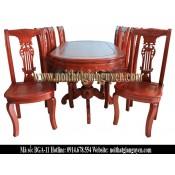 Bộ bàn ghế ăn bầu dục BGA-11
