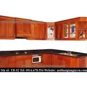 Tủ bếp gỗ Xoan đào TB-02