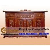 Tủ thờ gỗ tự nhiên kích thước lỗ ban TTD-01