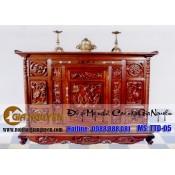 Tủ thờ gỗ tự nhiên kích thước lỗ ban TTD-05