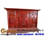 Tủ thờ gỗ tự nhiên kích thước lỗ ban TTD-08