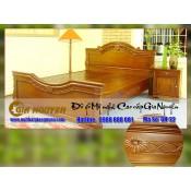Giường ngủ gỗ tự nhiên cao cấp GN-22