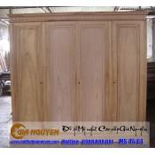 Tủ quần áo bốn cánh gỗ tự nhiên TA-64