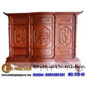 Tủ thờ gỗ tự nhiên kích thước lỗ ban TTD-10