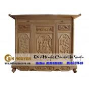 Tủ thờ gỗ tự nhiên kích thước lỗ ban TTT-04