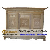 Tủ thờ gỗ tự nhiên kích thước lỗ ban TTT-05