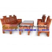 Bộ bàn ghế phòng khách Âu á tay hộp