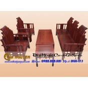 Bộ bàn ghế phòng khách giả cổ nhà tần