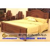 Giường ngủ gỗ tự nhiên cao cấp GN-32