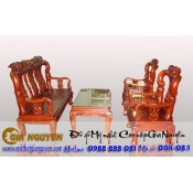 Bộ bàn ghế gỗ tự nhiên minh quốc dưa