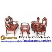 Bộ bàn ghế guột móc vách đá giả cổ