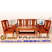 Bàn ghế phòng khách gỗ tự nhiên triện thọ