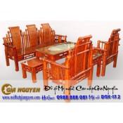 Bộ bàn ghế giả cổ tần thủy hoàng gỗ hương
