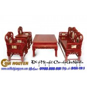 Bộ bàn ghế giả cổ trung đường vách đá