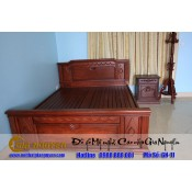 Giường ngủ gỗ tự nhiên cao cấp GN-11