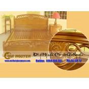 Giường ngủ gỗ tự nhiên cao cấp GN-12
