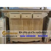 Tủ thờ gỗ gụ ba cánh chạm chữ Thọ - TTT-09