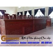 Mẫu bàn ghế phòng hội trường gỗ tự nhiên