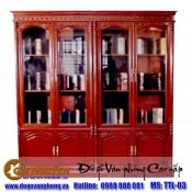 Tủ sách gỗ gụ