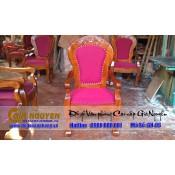 Ghế gỗ bọc đệm dành cho hội trường