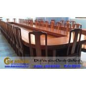 Báo giá bàn ghế phòng họp gỗ tự nhiên