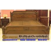 Giường ngủ gỗ tự nhiên cao cấp GN-33