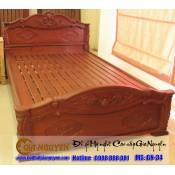 Giường ngủ gỗ tự nhiên cao cấp GN-34