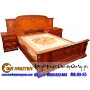 Giường ngủ gỗ tự nhiên cao cấp GN-35
