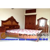 Giường ngủ gỗ tự nhiên cao cấp GN-42