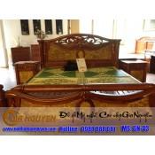 Giường ngủ gỗ tự nhiên cao cấp GN-43