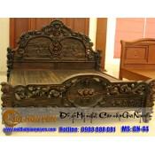 Giường ngủ gỗ tự nhiên cao cấp GN-44