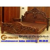 Giường ngủ gỗ tự nhiên cao cấp GN-45