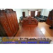 Giường ngủ gỗ tự nhiên cao cấp GN-46
