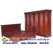 Giường ngủ gỗ tự nhiên cao cấp GN-48