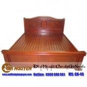 Giường ngủ gỗ tự nhiên cao cấp GN-49
