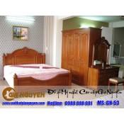 Giường ngủ gỗ tự nhiên cao cấp GN-53