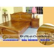 Giường ngủ gỗ tự nhiên cao cấp GN-63