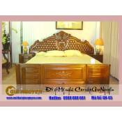 Giường ngủ gỗ tự nhiên cao cấp GN-65