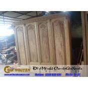 Tủ quần áo bốn cánh gỗ tự nhiên TA-67
