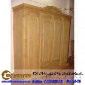 Tủ quần áo bốn cánh gỗ tự nhiên TA-78