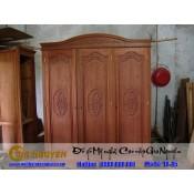 Tủ quần áo ba buồng gỗ tự nhiên TA-45