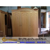 Tủ quần áo ba buồng gỗ tự nhiên TA-47